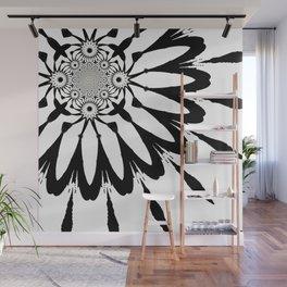 The Modern Flower White & Black Wall Mural