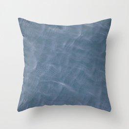 Caribbean Blue Water Ripples Throw Pillow
