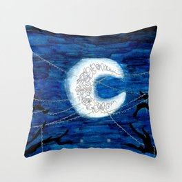 The Tangled Moon Throw Pillow
