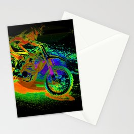 Race to the Finish! - Motocross Racer Stationery Cards