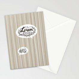 Designer SmallTalk Stationery Cards