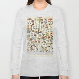 Adolphe Millot - Champignons B - French vintage poster Long Sleeve T-shirt