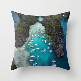 Island hopping in the Philippines Throw Pillow