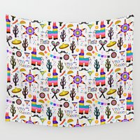 tequila Wall Tapestries featuring Fiesta Mexicana by Vannina
