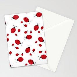 Ladybugs on White Stationery Cards