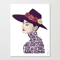 audrey hepburn Canvas Prints featuring Audrey Hepburn by Kenneth J. Franklin