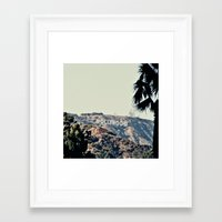 hollywood Framed Art Prints featuring Hollywood  by sam may create.