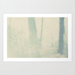 pale blue trees Art Print