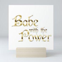 Labyrinth Babe With The Power (white bg) Mini Art Print