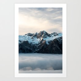 Mountains and fog Art Print