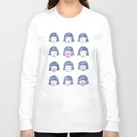 bubble Long Sleeve T-shirts featuring Bubble bubble bubble gum by Young Ju