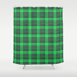 Lunchbox Green Plaid Shower Curtain