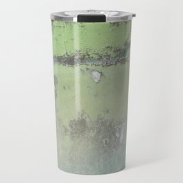 Green Patina Marble Wall Grunge Texture Earthy Vintage Pattern Mexico Mexican Natural Paint Marbled Travel Mug