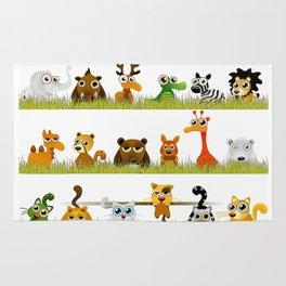 Adorable Zoo animals Rug