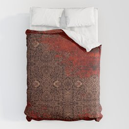Heritage Red & Golden Traditional Moroccan Style Comforters