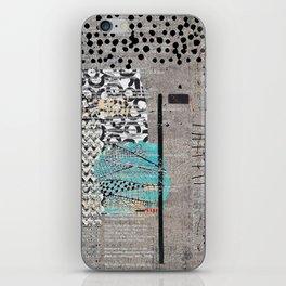 Grey Teal Abstract Art  iPhone Skin