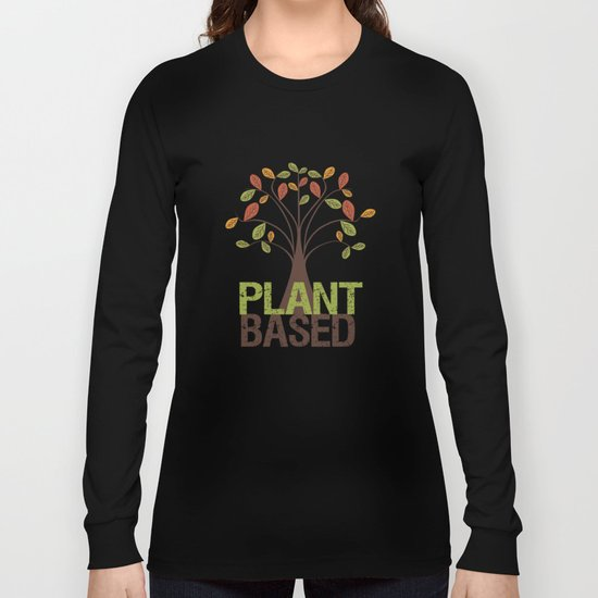 Plant Based Fall Tree Long Sleeve T-shirt