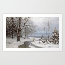 Anders Andersen - Lundby - A Wooded Winter Landscape Art Print