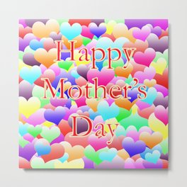 Mother's Day Hearts Metal Print