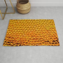 Yellow honey bees comb Rug