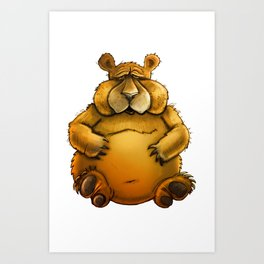 Beary sorry. Art Print
