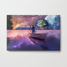 Sailing Away To The New World, From The Darkness To The Light Metal Print