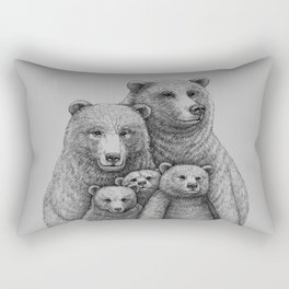 Family photo (mr. Bear) Rectangular Pillow