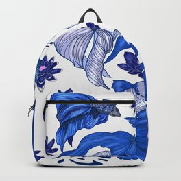 Chinoiserie Fighting Fish Backpack