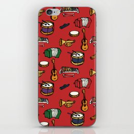 Toy Instruments on Red iPhone Skin