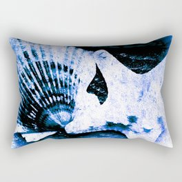 Marine Treasure, Blue Surf Rectangular Pillow