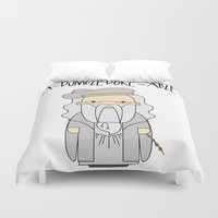 dumbledore Duvet Covers featuring A-DUMBLEDORE-ABLE.  by BeckiBoos