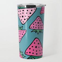 strawberry blue Travel Mug