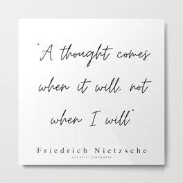 38    | 200319 |  Friedrich Nietzsche Quotes Metal Print