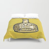 lawyer Duvet Covers featuring Face Jug by Huiskat