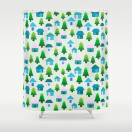 Home in Baby Mint Shower Curtain