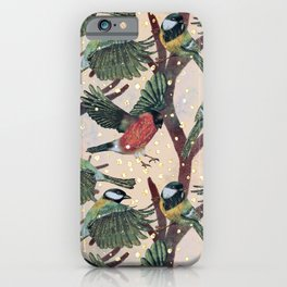 Magical Winter Wild Bird pattern iPhone Case