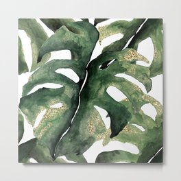 Amazon Jungle Leaf Metal Print