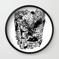 plants Wall Clocks featuring Plants by Bridie Cheeseman