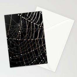 Spiders web and spiders web. Stationery Cards