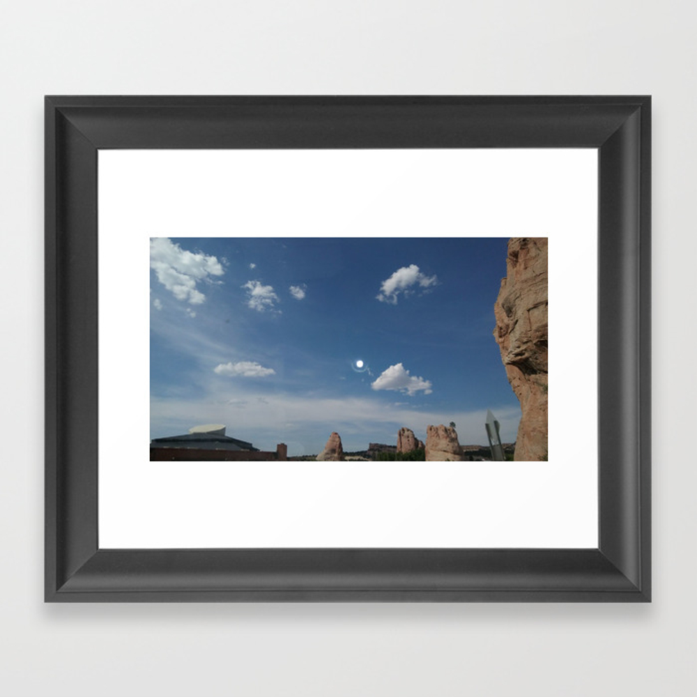 New Mexico Moon Framed Art Print by Ambidextrous-brain FRM8988846