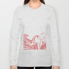 Color drop in water in motion. Ink swirling.  Long Sleeve T-shirt