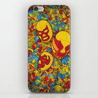 mucha iPhone & iPod Skins featuring Mucha Lucha by Guilherme Marconi