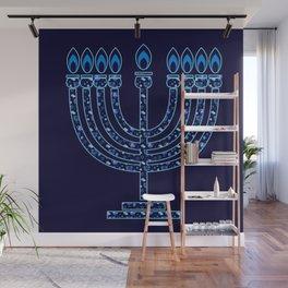 Happy Hanukkah Festival Holiday Decoration JUDAICA Wall Mural