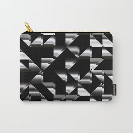 Triangle shapes in black and white II Carry-All Pouch