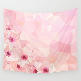 Pink Geometric Patter Wall Tapestry