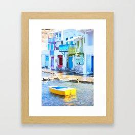 232. Colorful Klima, Greece Framed Art Print
