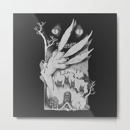När de du älskar - black and white Metal Print