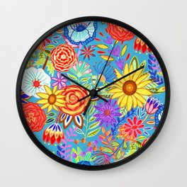 Spring Festive Floral  Wall Clock