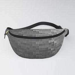 Gray Ombre Pixels Fanny Pack