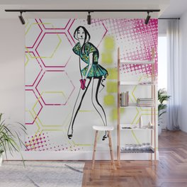 Colorful summer Wall Mural